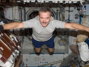 Chris Hadfield floating casual